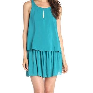 BCBGeneration teal tiered dress